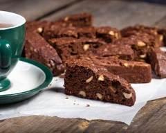 Recette biscottis au chocolat au lait et noisettes