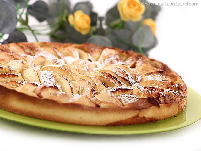 Tarte aux pommes alsacienne  recette de cuisine avec photos ...