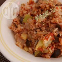 Recette ragoût de viande hachée aux tomates et courgettes ...