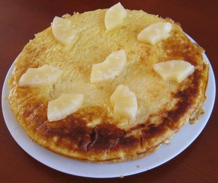 Recette de flan à l'ananas caramelisé