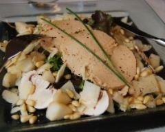Recette salade de foie gras, poires et champignons