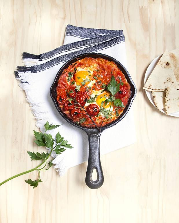 Shakshuka aux oeufs et tomates pour 4 personnes