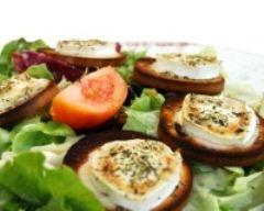 Recette salade de chèvre chaud au miel