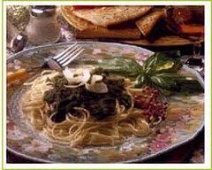 Recette spaghettis au pistou aux olives