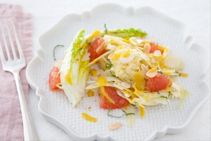 Recette de salade de fenouil et pamplemousse à la menthe facile et ...