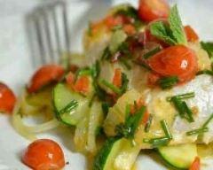 Recette cabillaud, courgettes et tomates cerises