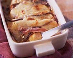 Recette gratin d'aubergines au jambon de parme