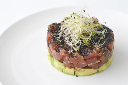 Recette de tartare de thon, avocat, wasabi