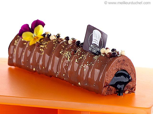 Bûche au chocolat et son cœur coulant  fiche recette illustrée ...
