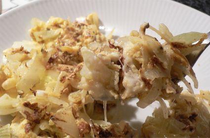 Recette omelette crémeuse à l'oignon