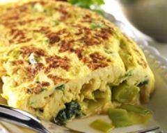 Recette omelette au cabécou, aneth et blancs de poireaux