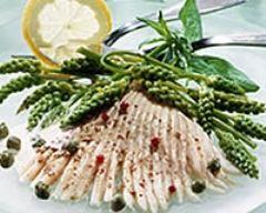 Recette salade tiède d'asperges et d'ailes de raie