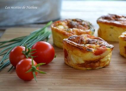 Recette de mini-quiches au poulet, cheddar, tomates cerise et ...