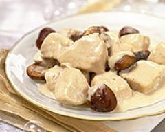 Recette blanquette de dinde aux marrons