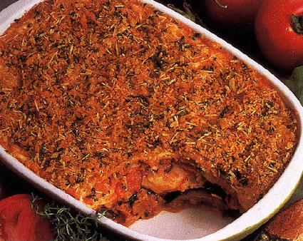 Recette de lasagnes aux aubergines, tomates et mozzarella