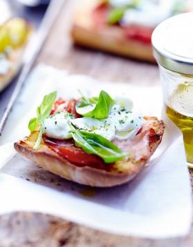 Tartines italiennes au prosciutto pour 6 personnes