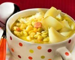 Recette soupe aux pois et au comté