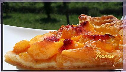 Recette de tarte aux pêches à la confiture d'abricots