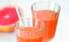 Jus de pamplemousse, carottes et gingembre frais pour 2 ...