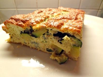 Recette omelette soufflée aux courgettes