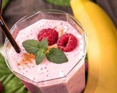 Recette smoothie framboises et banane