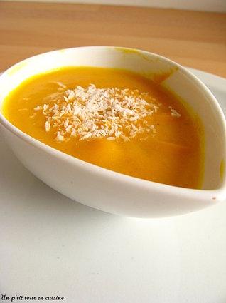 Recette de velouté de carottes au lait de coco