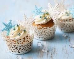 Recette cupcakes de noël goût vanille
