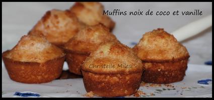 Recette de muffins noix de coco et vanille