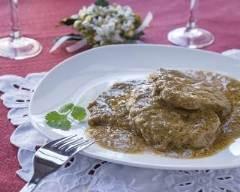 Recette escalope de veau à la sauce au vin blanc et oignon