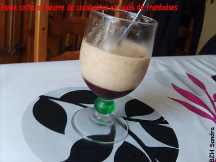 Recette de panna cotta au beurre de cacahuète