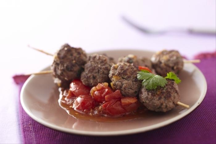 Recette de brochette de kefta et tomates cerises facile et rapide