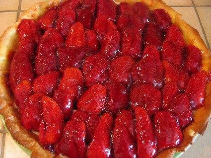 Recette de tarte pâtissière aux fraises