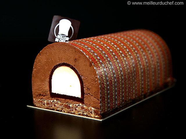 Bûche de noël chocolat au cœur abricot  la recette avec photos ...