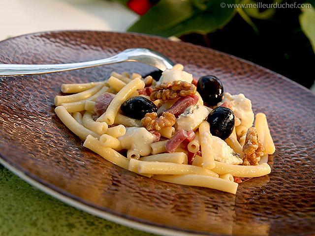 Salade de macaroni au gorgonzola  fiche recette illustrée ...