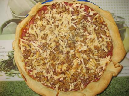 Recette de tarte fondante tomates-chèvre-noix