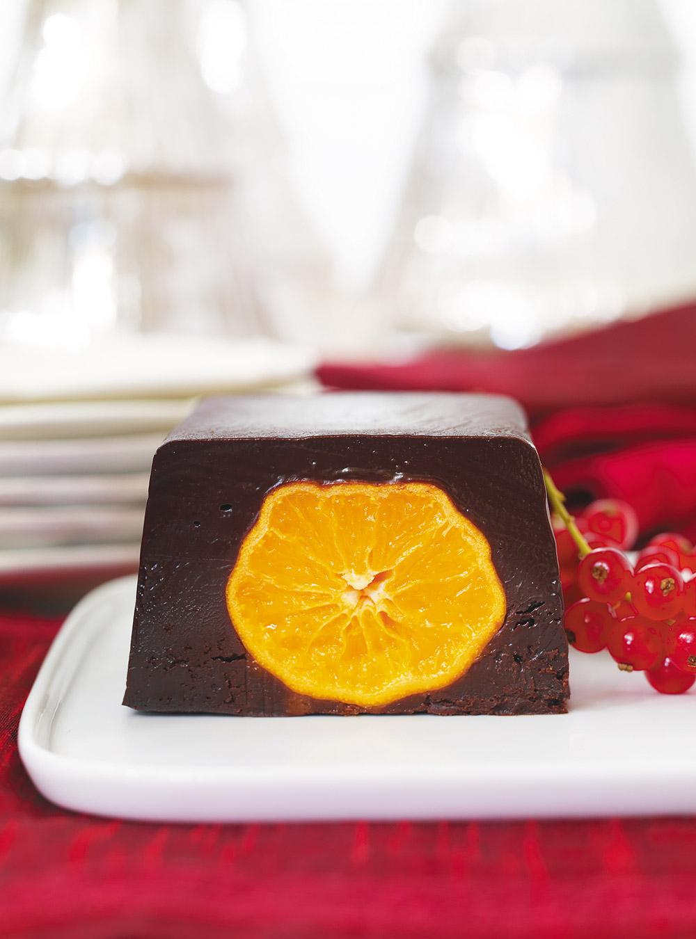Bûchette au chocolat et clémentines confites | ricardo