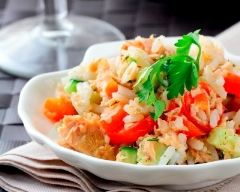 Recette salade de riz au thon naturel facile