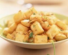 Recette pommes de terre sautées aux épices et aux pignons