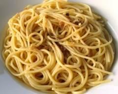 Recette spaghetti aux anchois