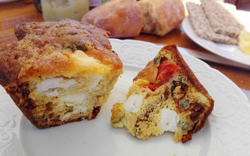 Cake Poivron Feta Pesto