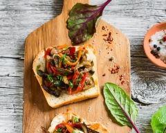 Recette tartine aux courgettes, poivrons et toastinette
