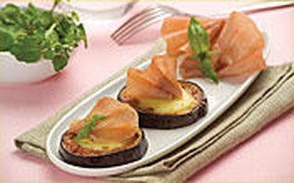 Recette de médaillons d'aubergine au jambon cru weight watchers ...