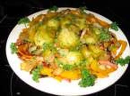 Recette de choux de bruxelles aux poivrons jaunes