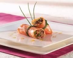 Saumon roulé, sauce chicorée.   cuisine az