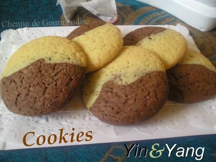 Recette de cookies yin & yang
