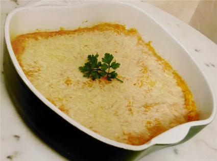 Recette de gratin de potiron à la muscade et parmesan