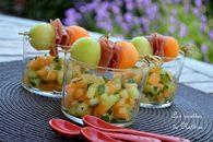 Recette de verrines aux melons galia et charentais marinés à l ...