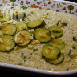 Recette risotto de courgettes au pesto et aux pignons – toutes les ...