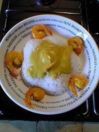 Recette de gambas au curry et lait de coco
