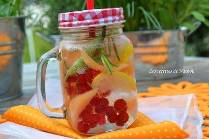 Recette eau aromatisée au melon, groseilles rouges et citron detox ...